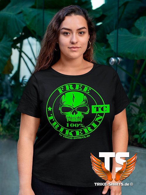 "T-Shirt Comfort - ""100% FREE TRIKERIN"" in 9 Flexfarben"