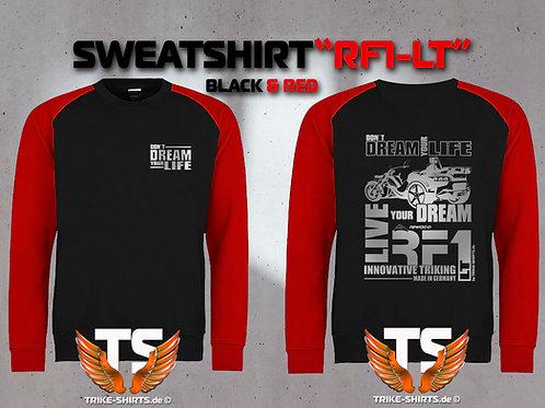 "Sweatshirt Baseball  - RF1-LT ""Don´t Dream your Life"" Silberflex"