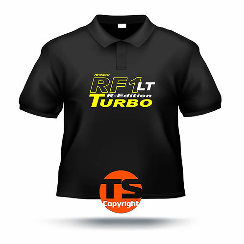 "Poloshirt Pique - ""RF1 - LT-R-Edition Turbo"" in 8 Flexfarben, 2-farbig"