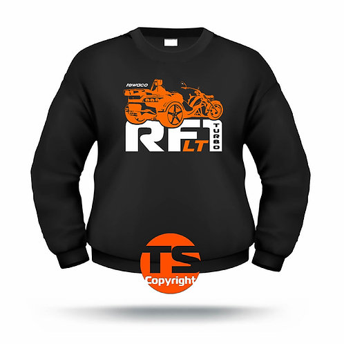 """Sweatshirt Set-In """"RF1 - LT-R-EDITION"""" in 8 Flexfarben, 2-farbig"""