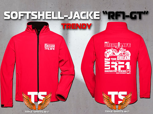 "Softshell-Jacke Trendy - RF1-GT ""Don´t Dream your Life"" 5 Textil- & 3 Flexfarben"