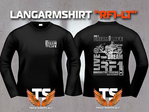 "LA-Shirt Comfort - RF1-LT ""Don´t Dream your Life"" Silberflex"
