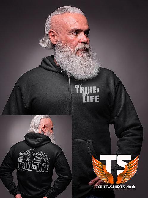 "Sweat Jacket Active - ""My Trike is my Life"" 002MBR - in 8 Flexfarben"