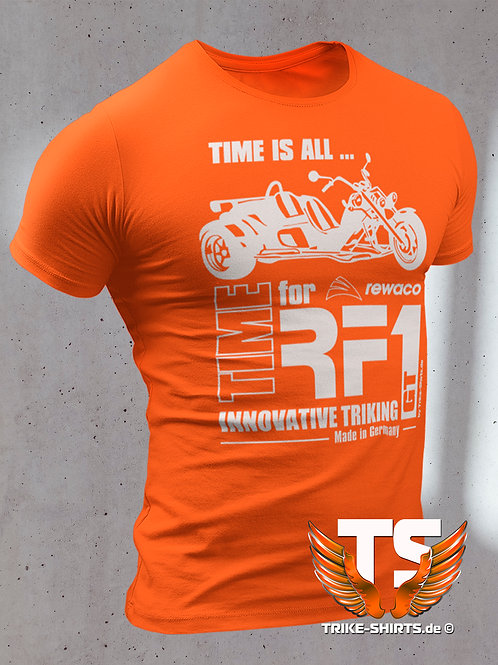 """T-Shirt Classic - """"TIME IS ALL - GT"""" in 10 Textilfarben"""