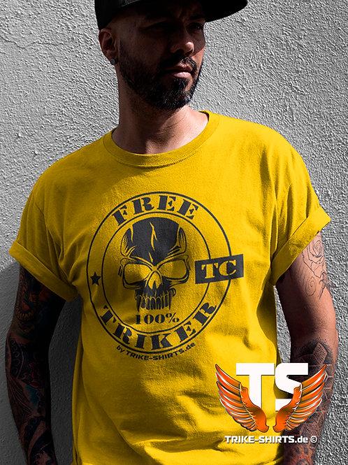 """T-Shirt Classic - """"100% FREE TRIKER""""  in 10 Textilfarben"""