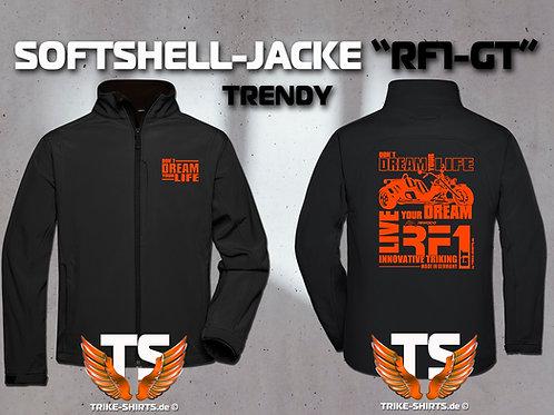 "Softshell-Jacke Trendy - RF1-GT ""Don´t Dream your Life"" 1 Textil- & 3 Flexfarben"
