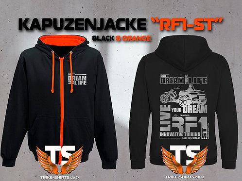 "Sweat Jacket Varsity - RF1-ST ""Don´t Dream your Life"" Silberflex"