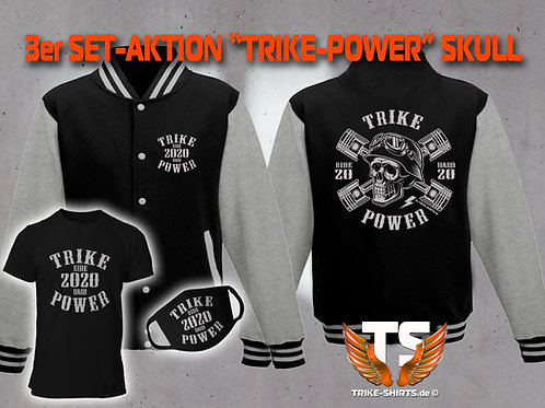 "3er Set Jacke, T-Shirt und Maske-Skull ""TRIKE POWER"" RIDE HARD 2020"""