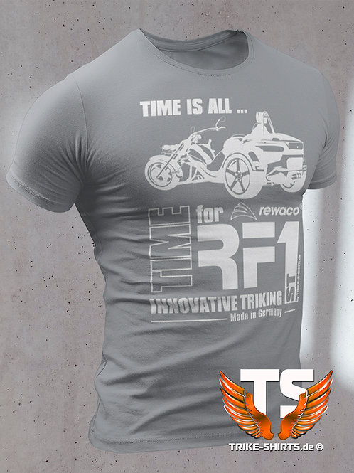 """Classic T-Shirt - """"TIME IS ALL - ST"""" in 10 textile colors"""