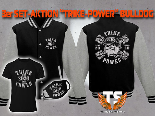 "3er Set Jacke, T-Shirt und Maske-Bulldog ""TRIKE POWER"" RIDE HARD 2020"""