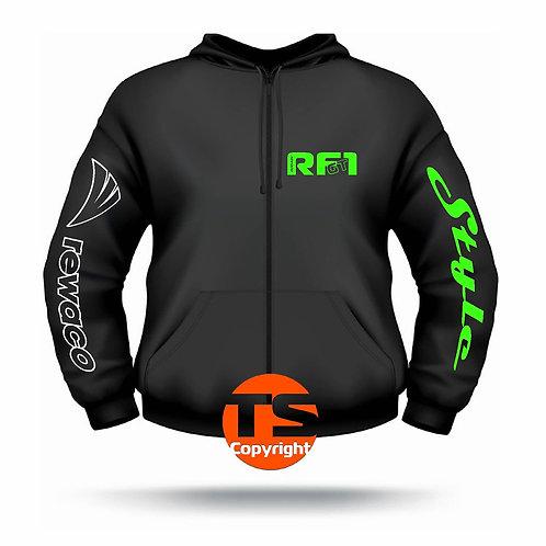 "Sweat Jacket Active - ""RF1 - GT-Style"" in 8 Flexfarben, 2-farbig"