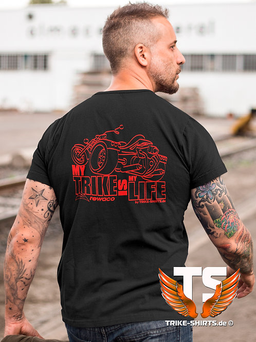 "T-Shirt Comfort - ""My Trike is my Life"" 002 - in 9 Flexfarben"