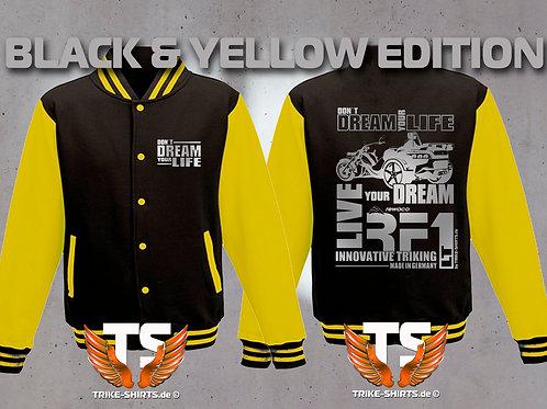 "College-Jacke RF1-LT ""Don´t Dream your Life"" in 6 Farben, Silberflex"