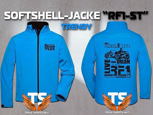 "Softshell-Jacke Trendy - RF1-ST ""Don´t Dream your Life"" 5 Textil- & 3 Flexfarben"