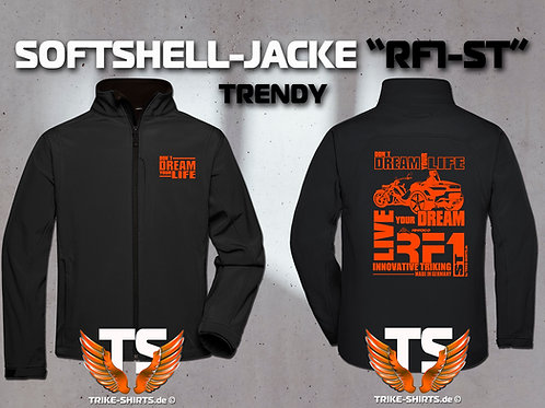 "Softshell-Jacke Trendy - RF1-ST ""Don´t Dream your Life"" 1 Textil- & 3 Flexfarben"