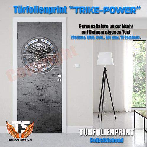 """Türfolienprint """"Skull Trike Power"""" mit Vorname oder Club..."""