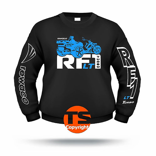 "Sweatshirt Set-In ""RF1 - LT-R-EDITION"" in 8 Flexfarben, 2-farbig"