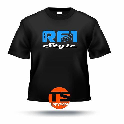 "T-Shirt Comfort - ""RF1 - GT-STYLE"" in 8 Flexfarben, 2-farbig"