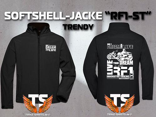 "Softshell-Jacke Trendy - RF1-ST ""Don´t Dream your Life"" 1 Textil- & 3 Flexfarben"