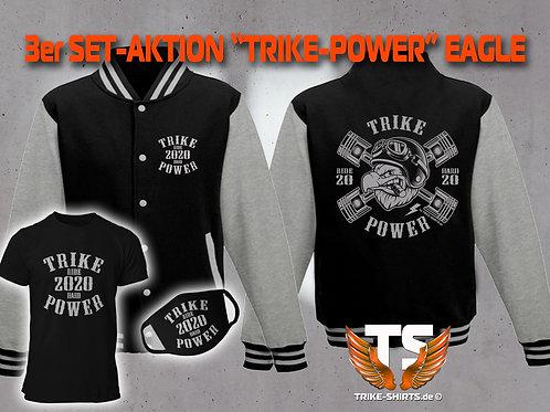 "3er Set Jacke, T-Shirt und Maske-Eagle ""TRIKE POWER"" RIDE HARD 2020"""