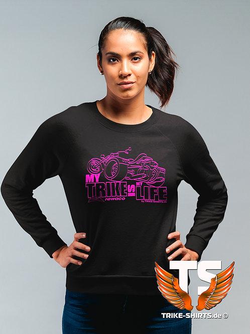 "Sweatshirt Set-In - ""My Trike is my Life"" 002LFV - in 9 Flexfarben"