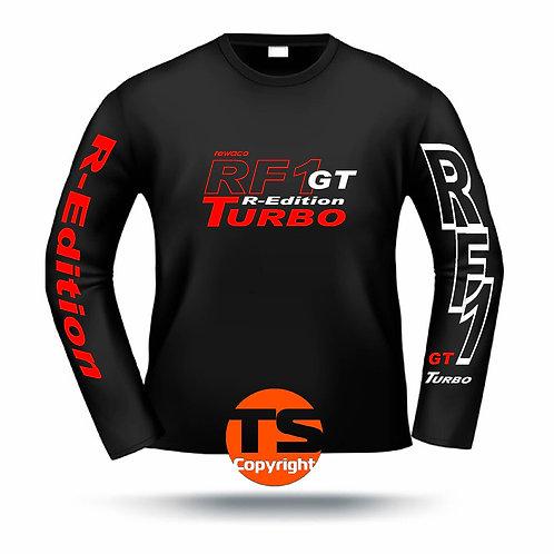 "LA-Shirt Comfort  - ""RF1 - GT-R-Edition Turbo"" in 8 Flexfarben, 2-farbig"