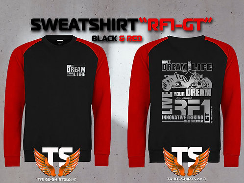 "Sweatshirt Baseball  - RF1-GT ""Don´t Dream your Life"" Silberflex"