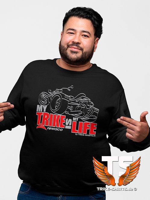 "Sweatshirt Set-In - ""My Trike is my Life"" 003M - 2-farbig silber-rot"