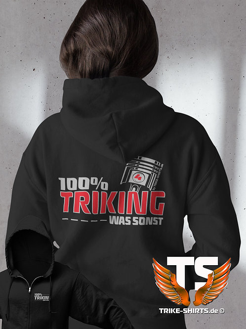 "Sweat Jacket Active -  ""100% TRIKING... WAS SONST !"" in 3 Flexfarben"