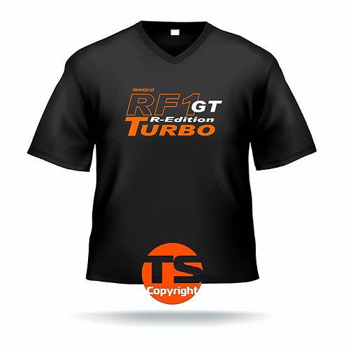 """V-Shirt Ben - """"RF1 - GT-R-Edition Turbo"""" in 8 Flexfarben, 2-farbig"""