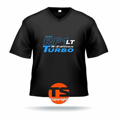 """V-Shirt Ben - """"RF1 - LT-R-Edition Turbo"""" in 8 Flexfarben, 2-farbig"""