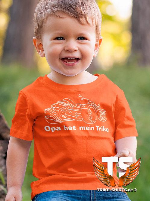 "T-Shirt Classic Kids - ""Opa hat mein Trike"" in 4 Textilfarben"