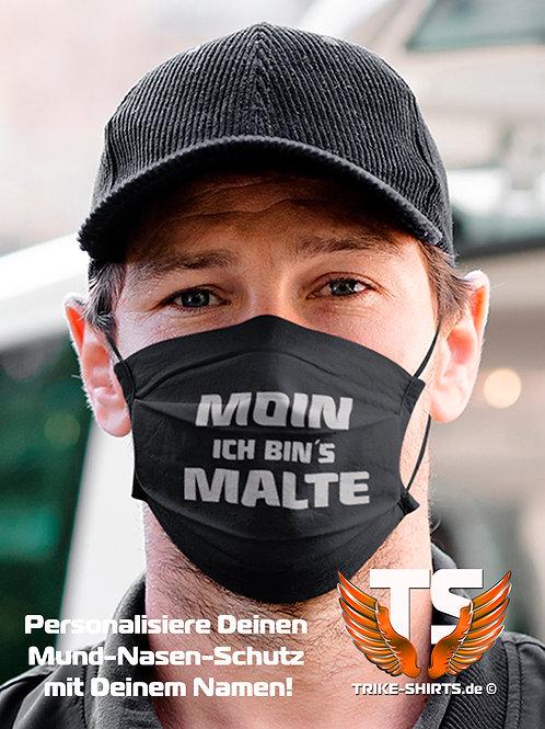 """Mund-Nasen-Schutz  - """"Triker Name"""" Moin... Ich bin´s ... Staffelpreis 1-4 St."""
