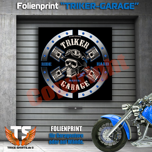 "Garagentorprint (Q) ""Skull Trike Power"" mit Ort/Land..."