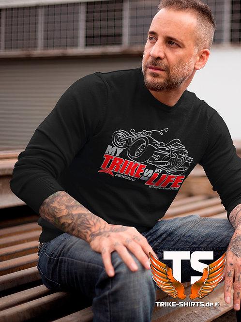 "LA-Shirt Comfort - ""My Trike is my Life"" 003MSR - 2-farbig silber-rot"