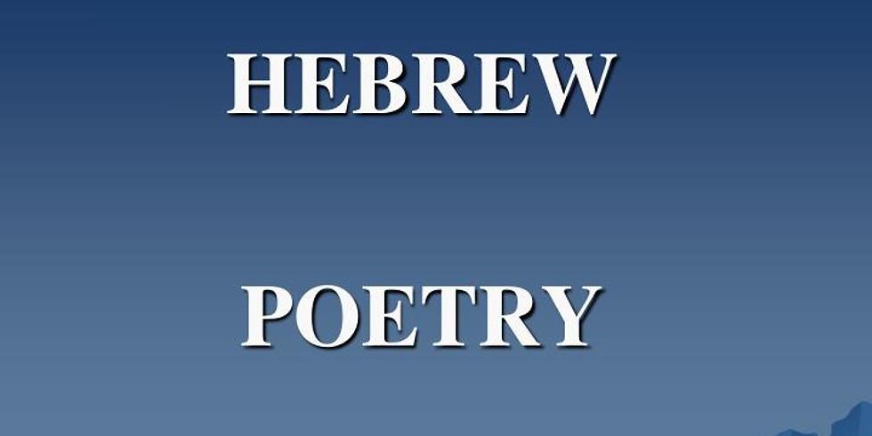 NEW SERIES: Hebrew Poetry