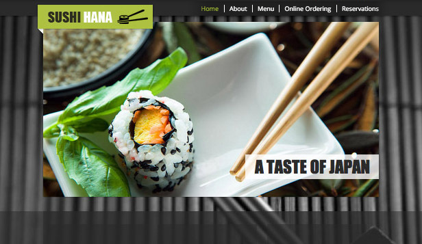 Restaurante website templates – Restaurante Japonês