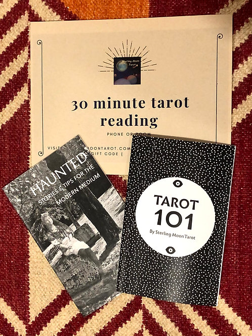 Sterling Moon Gift Bundle with 30 Minute Tarot Reading