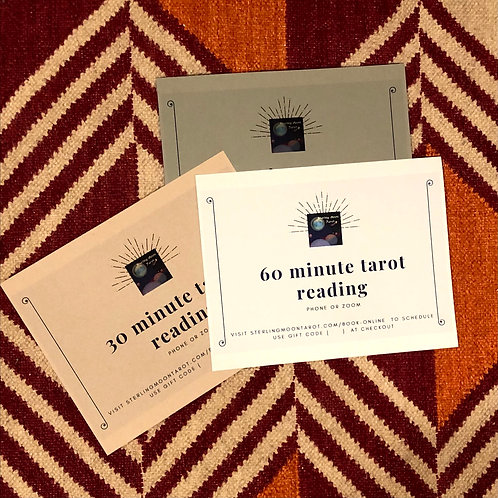 Tarot Reading Gift Certificate ~ 60 Minutes