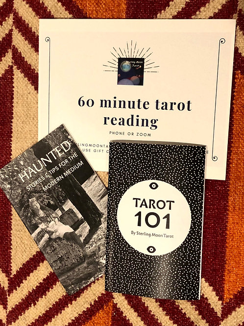 Sterling Moon Gift Bundle with 60 Minute Tarot Reading