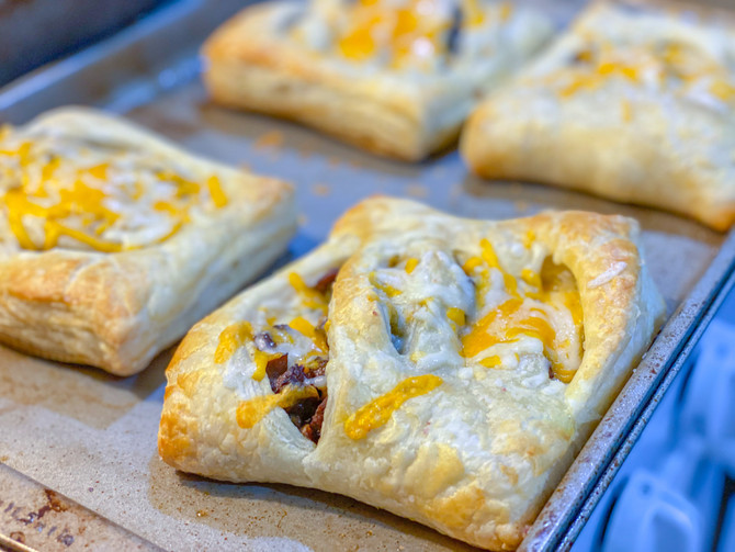 Recipe of the Week -  Philly Cheese Steak Puff Pastry Pockets