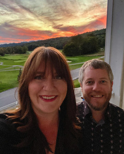 Sunset over the golf course at nearby Bedford Springs