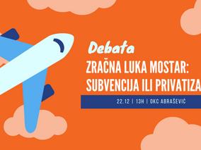 OKC Abrašević: Studentska debata o Zračnoj Luci Mostar