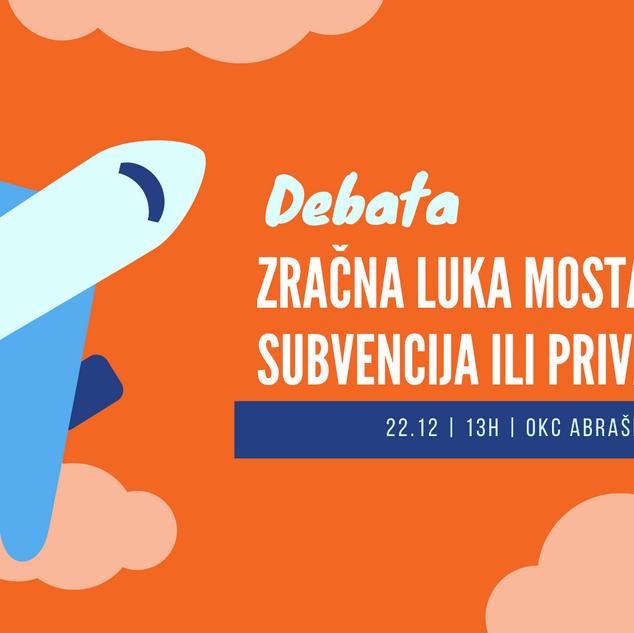 Sutra studentska debata o Zračnoj Luci Mostar