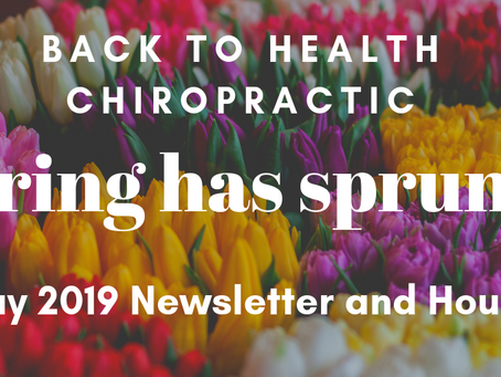 May 2019 Newsletter and Hours