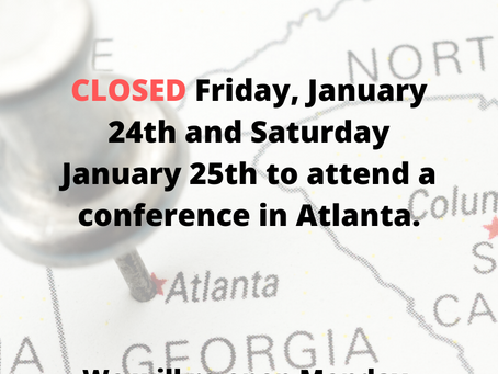 Closed Friday and Saturday 24th and 25th