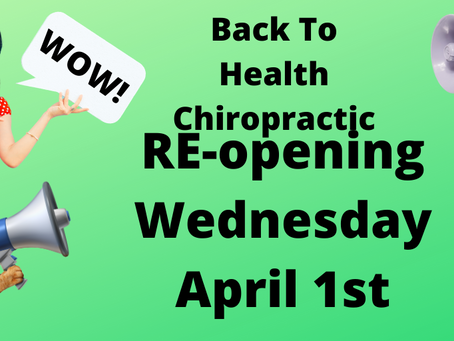 We are Open as of April 1st!