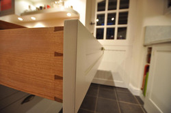 Drawers with dovetail joints