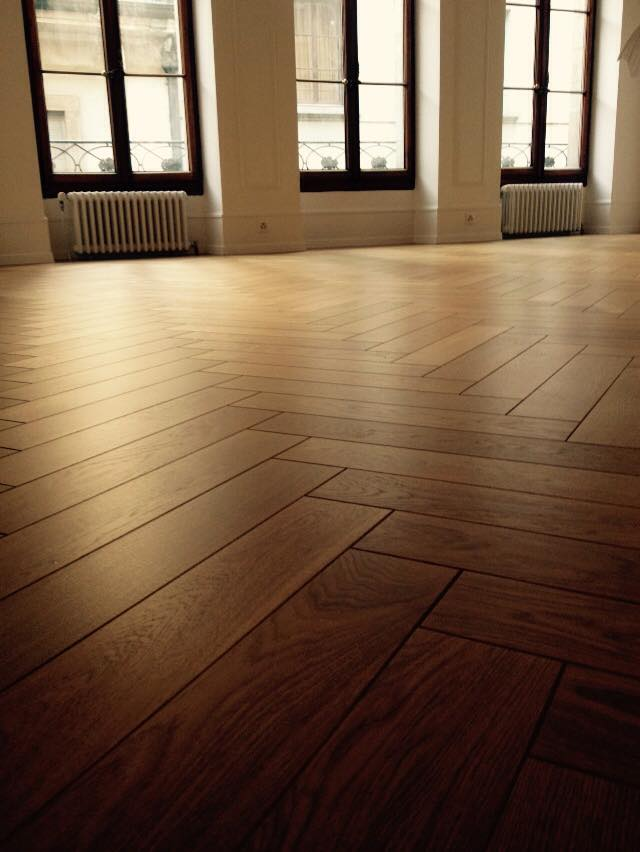 Herring-bone parquet