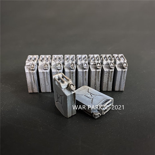 WS031 Grey 20L Gasoline Jerry Can Set